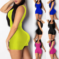 Jumpsuit Party Trousers Sleeveless U-Neck Women Romper Bodycon Playsuit Clubwear