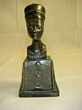 VINTAGE ART DECO EGYPTIAN NEFERTITI BRONZE BUST 1920's