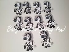 10 Baby Shower Foam Zibras Party Decorations it's a Boy or Girl Favors Prizes