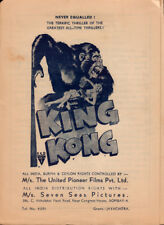 King Kong Original Herald from the 1933 Movie staring Fay Wray Robert Armstrong