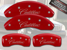 "Cursive 2014 ""Cadillac"" ELR Front + Rear Red MGP Brake Disc Caliper Covers 4pc"