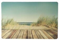 Schreibtischunterlage Steg durch Düne 40x60 cm abwischbar Meer Sand 2. Wahl