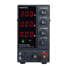 WANPTEK NPS3010W LED Switching DC Power Supply 0-30V 0-10A 3 Digits Dual Output