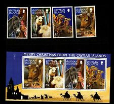 Cayman islands, |merry Christmas m/s +stamps **mnh