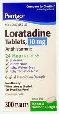 Perrigo Loratadine 10mg 24hr Non Drowsy Allergy Relief 300 tabs PHARMACY FRESH!