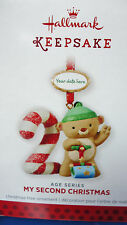 HALLMARK 2013 My Second Christmas Child's Age Series Stickers to date Ornament