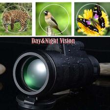Day&Night Vision 40X60 HD Optical Monocular Hunting Camping Telescope BAK4 Prism