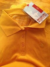 NEW Mossimo Small Career Sport Polo Tee Shirt Top Short Sleev Soft Collar Yellow