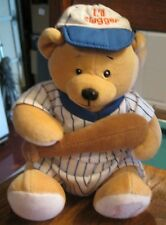 Ganz baby LIL Slugger bear  7in rattle bat outfit baby toy doll