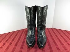 Justin Style L4743 Black Leather Cowgirl Western Boots Women Size 6 B