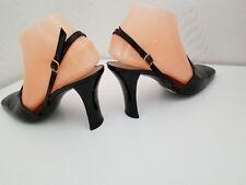 CHARLES JOURDAN-Cuir Noir Chaussures Vernies uk5.5 eu38.5 us7.5B Neuf dans sa boîte - £ 125