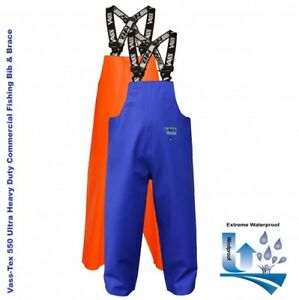 Vass Tex 550 Extreme Waterproof / oil Skin / Commercial Bib and Brace