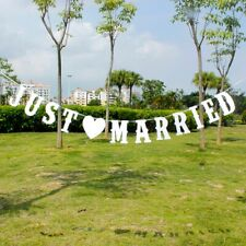 'just Married' Vintage Hessian Banner Rustic Wedding Party Bunting Decor UK 3m