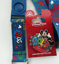 2012 LE DISNEY WORLD 2012 MICKEY MOUSE 3D PIN 2013 LANYARD BELIEVE IN MAGIC NEW