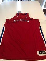Game Worn Used Kansas Jayhawks KU Womens Basketball Jersey Adidas 3XL Blank
