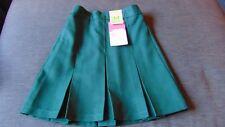 "M&S Stormwear Adj.Waist Traditional Pleat School Skirt 3-4y W21"" 104cm GreenBNWT"