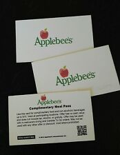 (3) $15 Applebee's Complimentary Meal Voucher,Total Value $45, NO EXPIRATION,