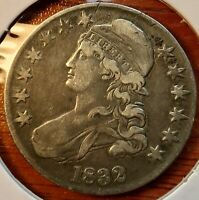 1832 Capped Bust Silver US Half Dollar