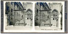 Stereo, Espagne, Burgos, puerta del Sarmental Vintage stereo card - Tirage arg
