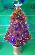 2ft 60cm Gold Small Pre Lit LED Star Fibre Optic Christmas Tree Xmas Golden