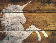 UNICORNO Fantasy tessuto Stencil ARREDAMENTO ARTE PITTURA AEROGRAFO MYLAR A3 #UNI