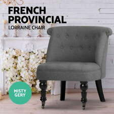 Polyester French Country Wooden & Fabric Chairs