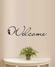 Welcome Italic Door Decal Vinyl Wall Decal Sticker Home Decor