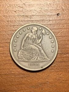 1859-O Seated Liberty Dollar. Nice, Very Good.