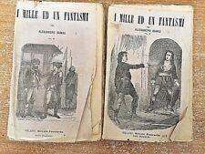 I mille ed un fantasmi volumi III e IV Alessandro Dumas 1899 ( circa ) Ferrario