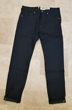 Levis Made & Crafted  Black Tack Slim Red Line Selvedge Riged Jeans W36  # 83
