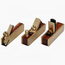 3 PEZZI MICRO MINI IN OTTONE PIANO A MANO finitura in legno Set Pialla per legno Hobby Craft