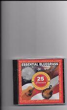 "ESSENTIAL BLUEGRASS, CD ""25 CLASSICS"" NEW SEALED"