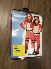 FORTNITE KIDS TRICERA OPS HALLOWEEN COSTUME MEDIUM M L 8-12 IN HAND SOLD OUT NEW