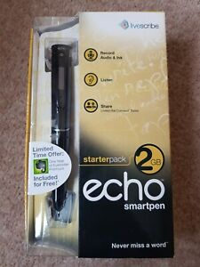 BRAND NEW sealed Echo Smartpen Starter pack 2GB, Livescribe, Mac and windows 7