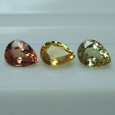 1.18 CTS. GENUINE MINED NATURAL MULTI COLOR SAPPHIRE PEAR CUT 3 PCS.  *4528*