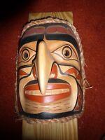 "North West Coast Salish Hand Carved Cedar  ""Human Eagle"" Mask-Rand Stiglitz!"