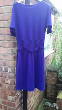 MARC CAIN Knitted Dress in Purple size 12