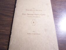 VINTAGE - THE BIOGRAPHY & ANCESTRY OF HON. GEORGE HENRY CATLIN - SCRANTON PA
