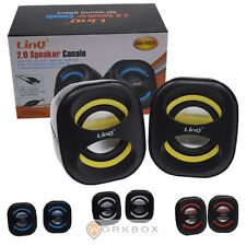 CASSE SPEAKER usb jack 3,5 3W notebook pc linq AN-S631 BIANCO GIALLO BLU ROSSO