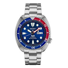 Seiko Automatic SRPA21 PADI Divers Stainless Steel Blue Dial Day Date Mens Watch