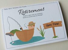 Personalised Handmade Retirement Congratulations Card: Fishing Theme