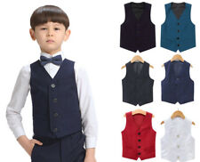 Boys Page Prom Wear Wedding Formal Waistcoat Christenings Formal Suits Vests
