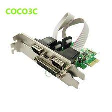 PCI-e 2 Serial 1 Parallel I/O card PCI express to RS232 com port + printer LPT