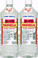 2 X Clear Danncy Pure Mexican Vanilla Extract 33oz Ea Plastic Bottle From Mexico