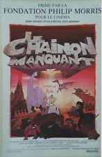 """""""LE CHAINON MANQUANT"""" Affiche originale entoilée 0ffset PICHA 1980  43x64cm"""