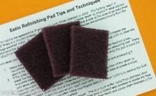 3 Satin / Brushed Refinishing Pads for your Rolex Daytona Watch  - NO RESERVE