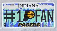 Indiana Pacers #1PFAN NBA Tin License Plate #1 Fan Embossed Basketball New