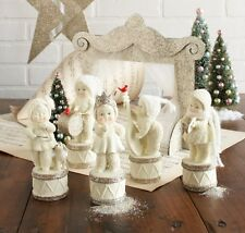 Snowbabies Merry Music Makers Set of Five Figures Plus BackDrop