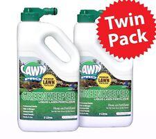 Lawn Pro Greenkeeper Liquid Hose On fertilizer 2ltr Twin Pack 300sqm N15 P4 K10