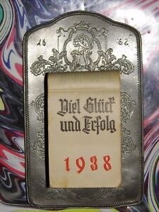 83.Geburtstag original KALENDERBLATT Januar - April 1938 - Geschenk HOCHZEITSTAG